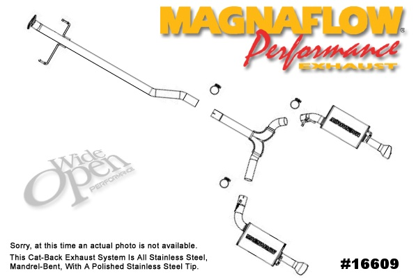 magnaflow cat-back exhaust system for mazdaspeed 6 - 16609