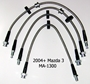 Techna-Fit Stainless Steel Braided Brake Lines for Mazda 3 / Mazdaspeed 3 (complete set)