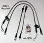 Techna-Fit Stainless Steel Braided Brake Lines for Mazda 6