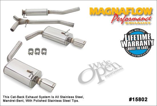 magnaflow cat back exhaust system for mazda 6 s (3 0l) 15802