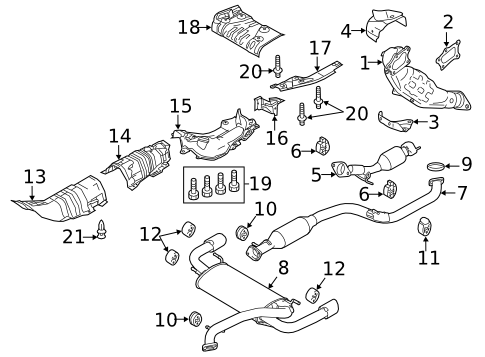Mazda OEM Downpipe Gasket for Mazdaspeed 3 / 6 #L3F2-13